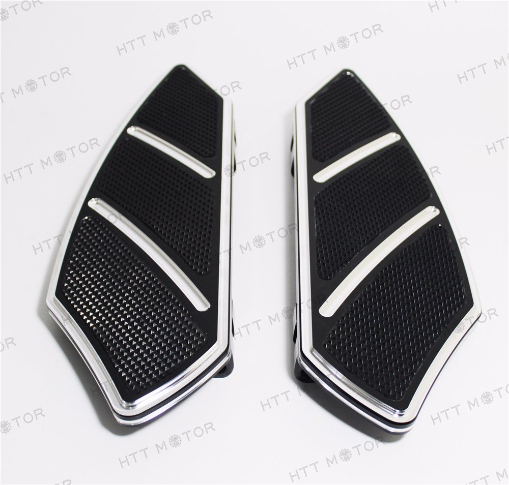 HTTMT- Groove Rider Front FootBoard Floorboard Fit Harley Touring Softail 84-15 Black