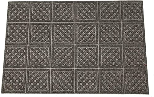 Mats Inc. Aqua Thirst Rubber Back Lattice Entrance Mat, 18 x 30 , Dark Gray