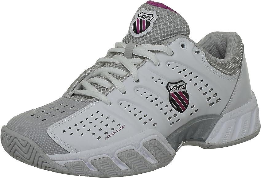 K-Swiss Bigshot, Zapatillas para Mujer, Blanco/Gris, 37 EU: Amazon.es: Zapatos y complementos