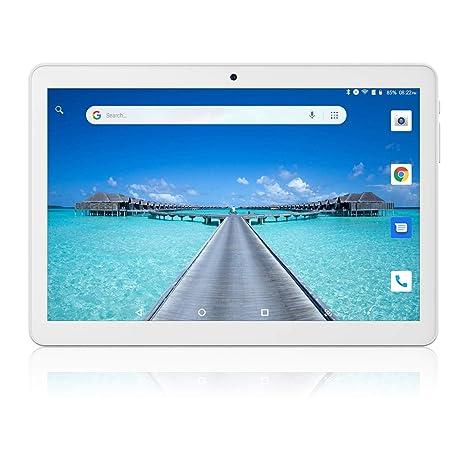 Tablet 10 Pulgadas, Android Desbloqueado Teléfono 3G, Tabletas PC Ranuras para Tarjetas SIM Dobles 1GB+16GB Quad-Core IPS 1280x800, WiFi Bluetooth GPS ...