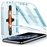 Spigen, 2 stuks, Screenprotector compatibel met iPhone 11 Pro, iPhone XS/X, glas. tR EZ Fit, sjabloon voor installatie…