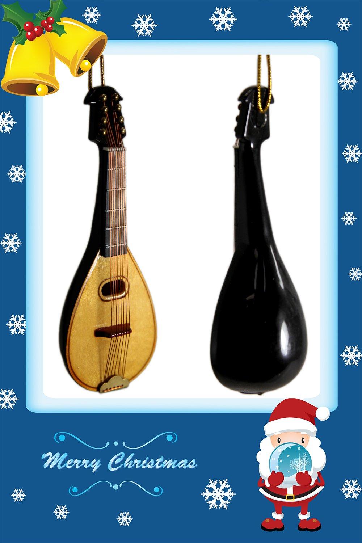 Musical Instrument Christmas Ornament Miniature Mandolin by Sky