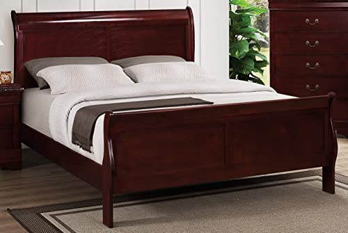 Bernards Chablis Cherry Sleigh Bed