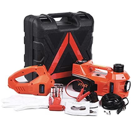Electric Hydraulic Jack Set 12v By Rogtz All In One Automatic 3 Ton