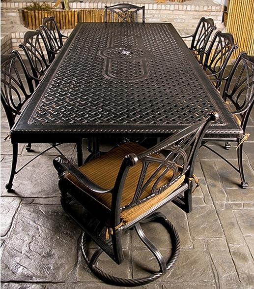Amazon.com : Gensun Grand Terrace Patio Dining Set w/ 112 ...