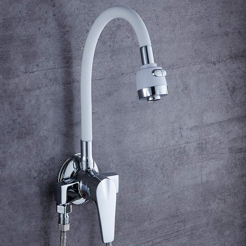 grifo flexible cocina blanco 2 funciones Orientable Ajustable ...