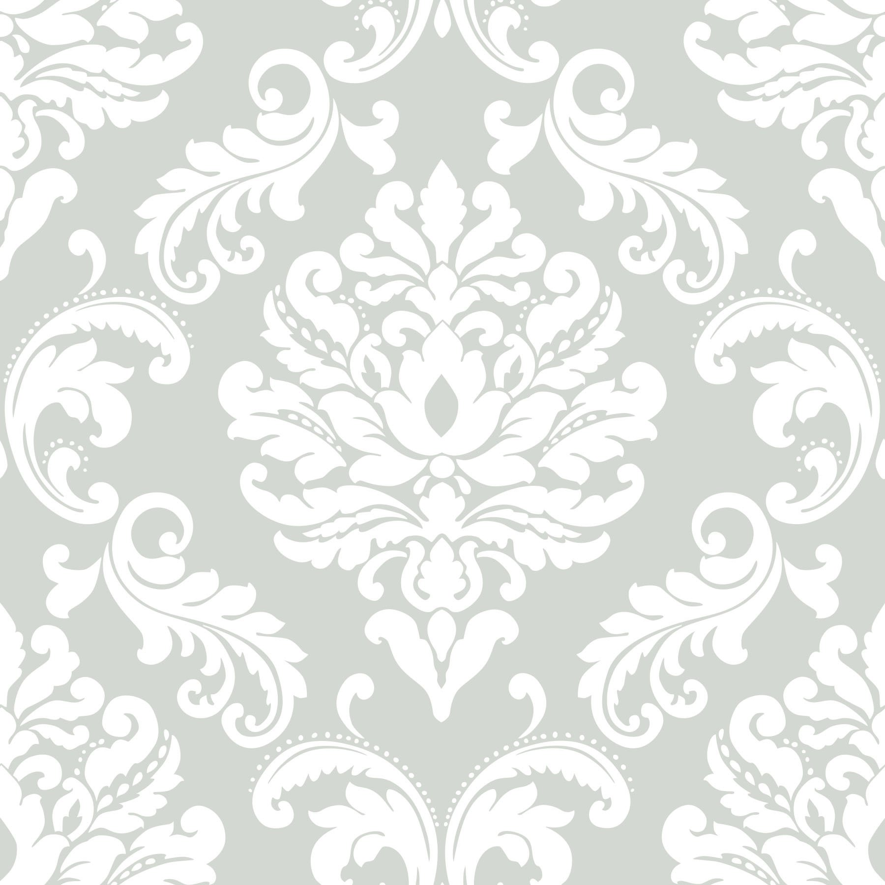 NuWallpaper NU1935 Ariel Grey Peel and Stick Wallpaper by NuWallpaper