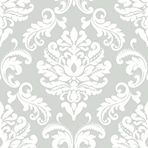 Brewster Home Ariel Grey Peel and Stick Wallpaper