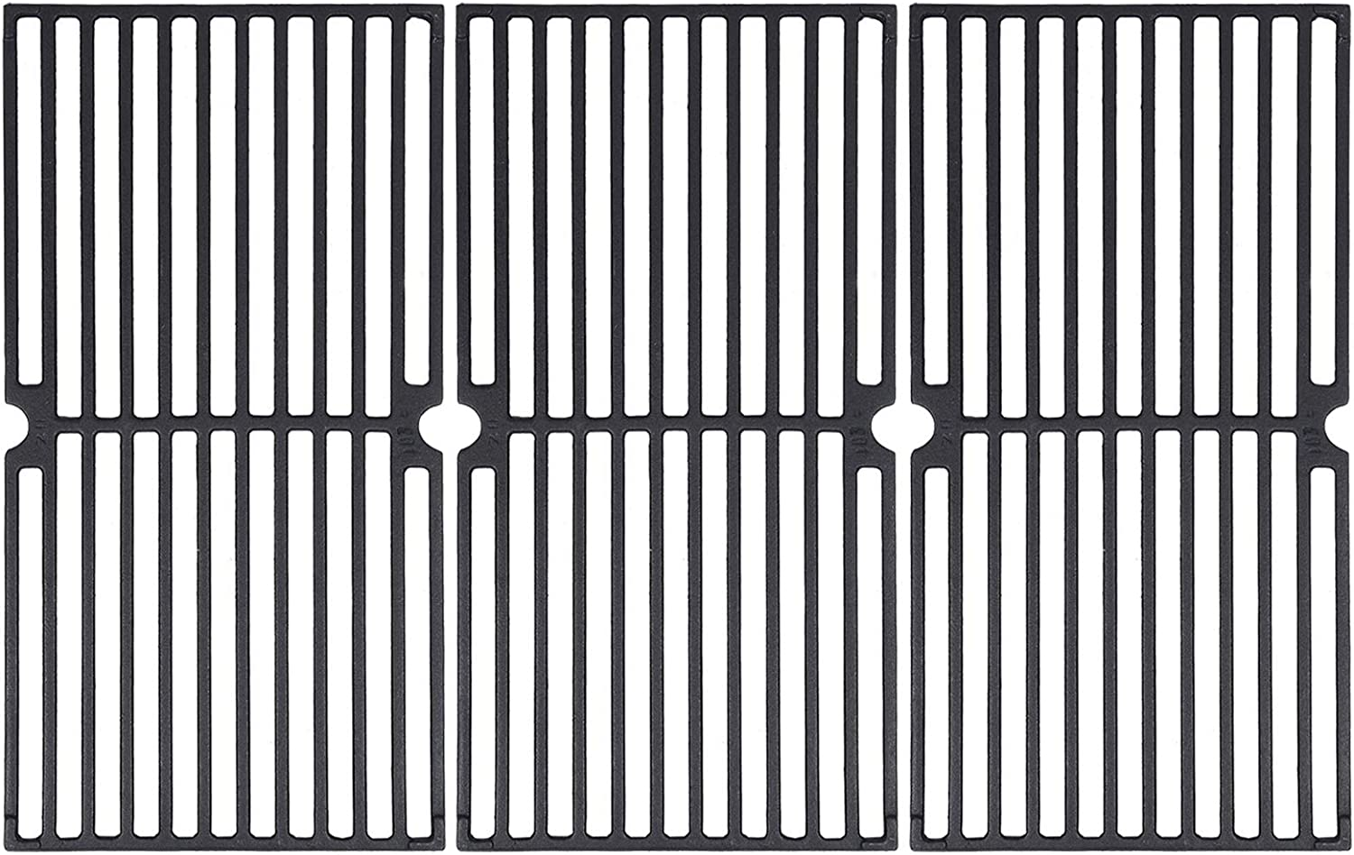 """GGC Grill Grates Replacement for Brinkmann 810-8410-F, 810-2410-S, 810-2511-S, 810-2512-S, 810-8411-5, 810-9415-W and Others, Porcelain Coated Cast Iron Cooking Grate(17 3/4"""" x 8 15/16"""")(Set of 3)"""