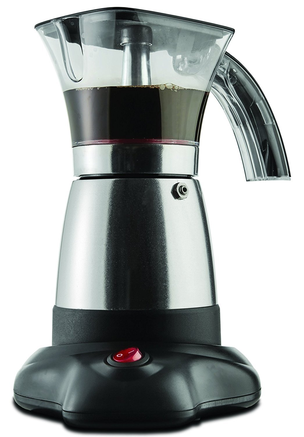 Brentwood Electric 6 Cup Moka Espresso Maker in Silver - 6.5