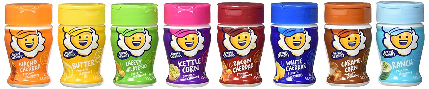 Kernel Season's Popcorn Seasoning Mini Jars Variety Pack, 0.9 Ounce (Pack of 8)