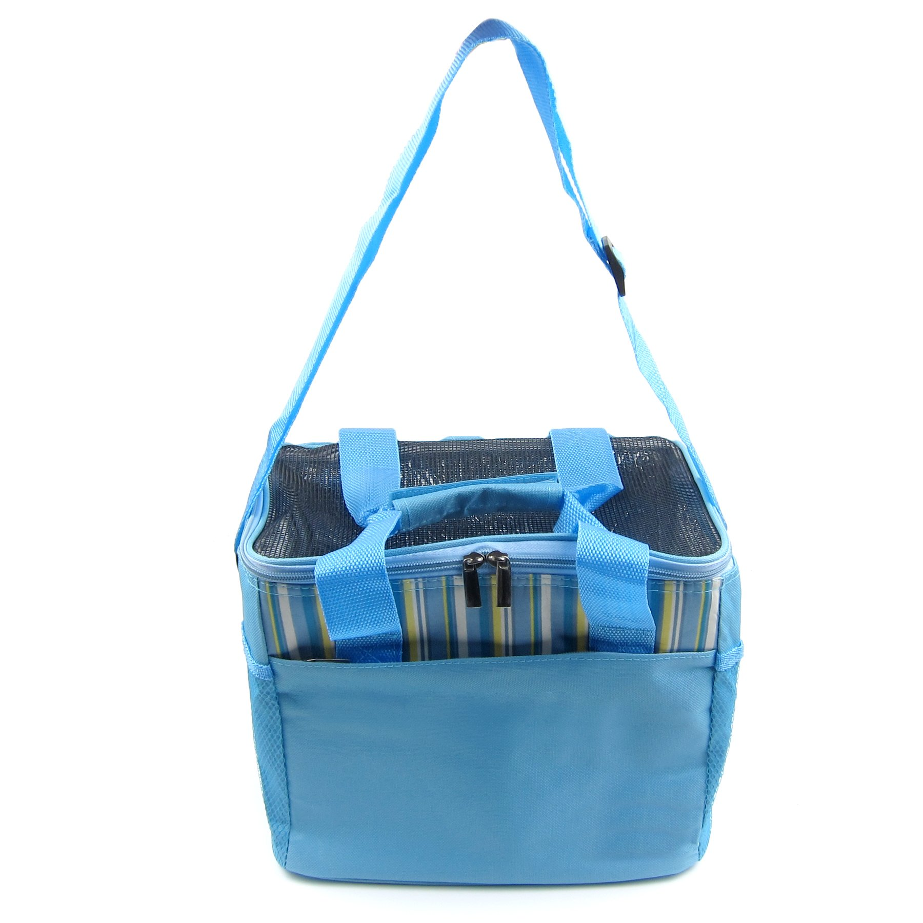 Alfie Pet by Petoga Couture - Jaylen Travel Carrier Vacation House for Small Animals like Dwarf Hamster and Mouse - Color Blue