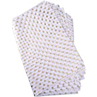 Polka Dots Tissue Paper Dot Wrapping Paper, Gold and White, 28 Inch by 20 Inch, 50 Sheets
