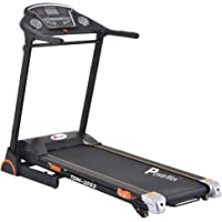 Powermax Fitness TDM-105S (2.0 HP), Semi-Auto Lubrication, Motorized Treadmill with Hi-Fi Speaker, USB & Tablet Holder