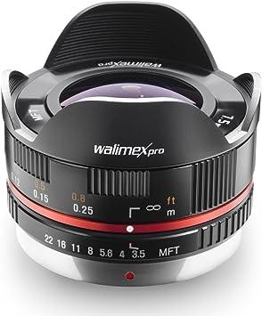 Walimex Pro - Objetivo Ojo de pez 1:3,5 CSC para Micro Cuatro ...