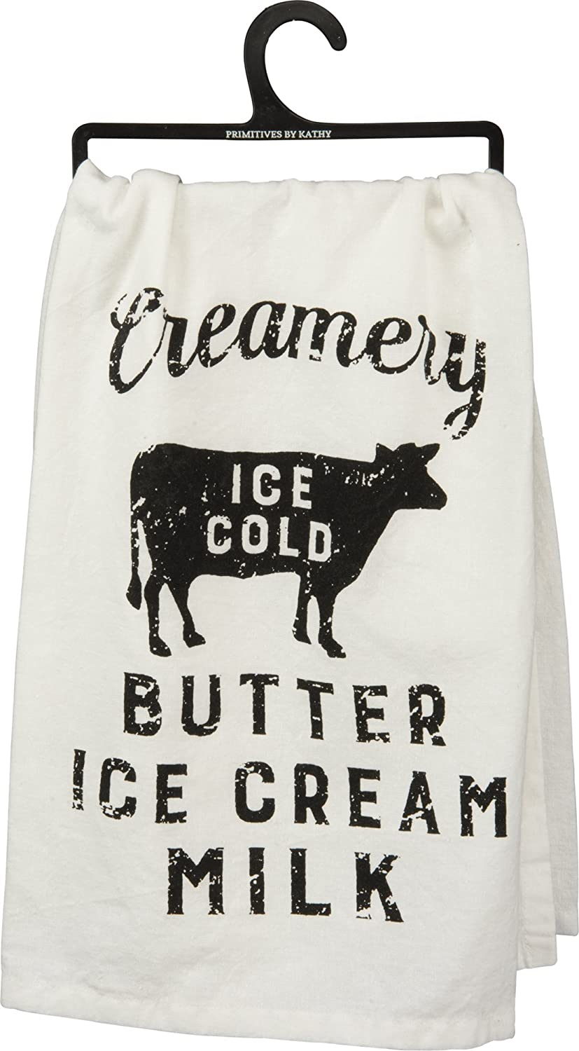 creamery ice cold butter ice cream milk farmhouse hand towel