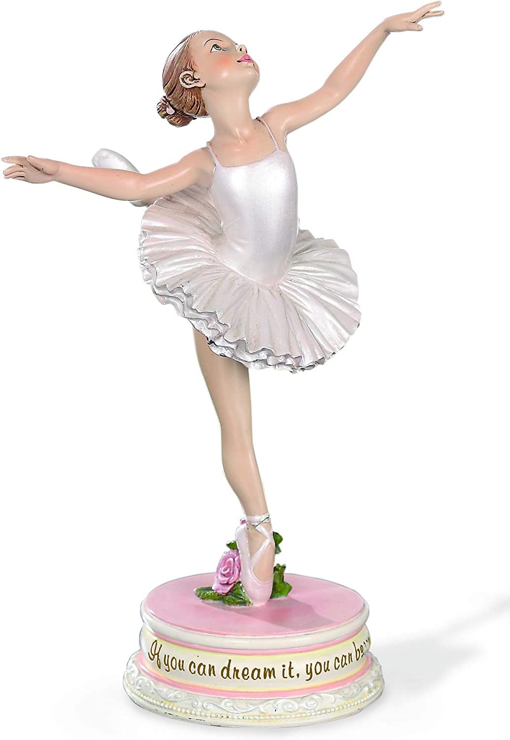 """Joseph's Studio by Roman - Ballerina Figure, Ballet Collection, 7"""" H, Resin and Stone, Decoration, Collection, Durable, Long Lasting, Collectible"""