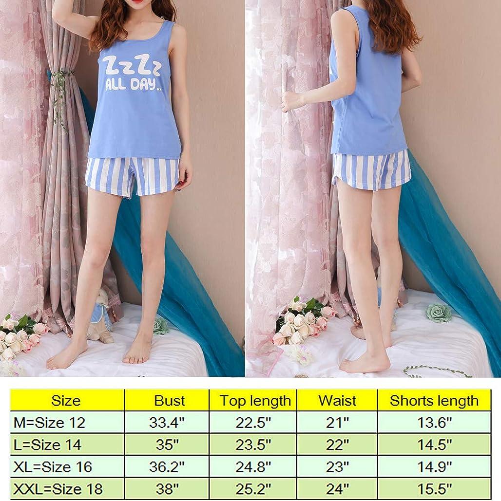 Big Girls Summer Pajamas Set-Cute Tank Top and Shorts Night Teens Sleepwear Size 12 14 16 18