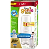 Playtex Diaper Genie Elite Pail System with Odor Lock Carbon Filter, New Value Size Package 100 Count (Pack of 2)
