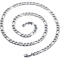 Yellow Chimes Classic Figaro 316L Stainless Steel Gold Silver Chain for Women and Men