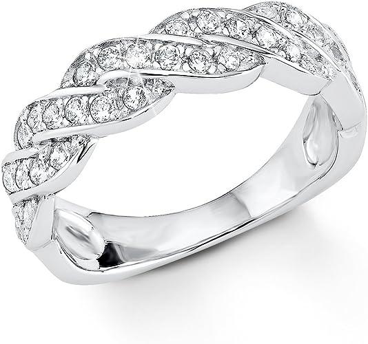 Ring Flecht Optik Größe 16,5-17,2-18,1 breite 2 mm 925er Sterling Silber
