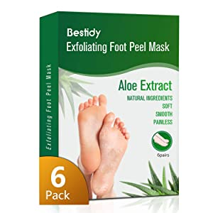 Foot Peel Mask 6 Pack,Exfoliating Foot Mask Booties Natural Baby Foot Care Treatment Peeling Off Calluses and Dead Skin Cells Removes & Repairs Rough Heels For Men & Women