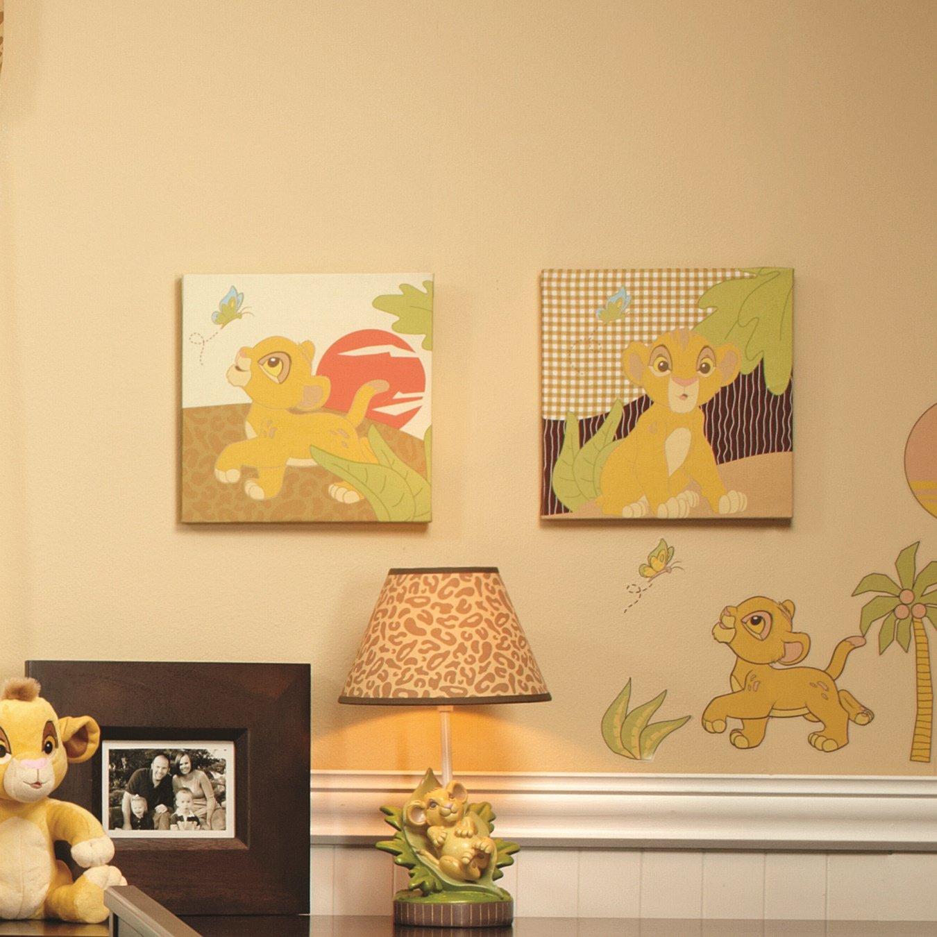 Amazon.com : Disney Lion King Simba\'s Wild Adventure 2 Piece Canvas ...