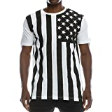 647d898dab5e Amazon.com  USA American Flag Old Glory Men s B W Patriotic Board ...