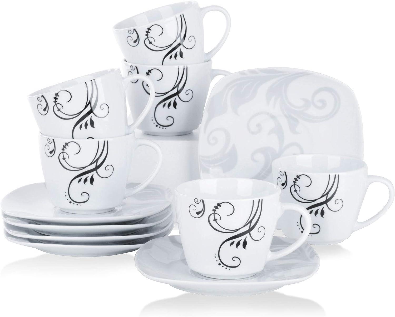 12 Piezas Juegos de Cafe de Porcelana