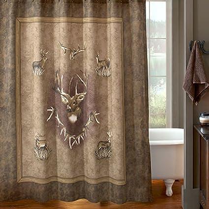 Whitetail Ridge Deer Shower Curtain 72quot