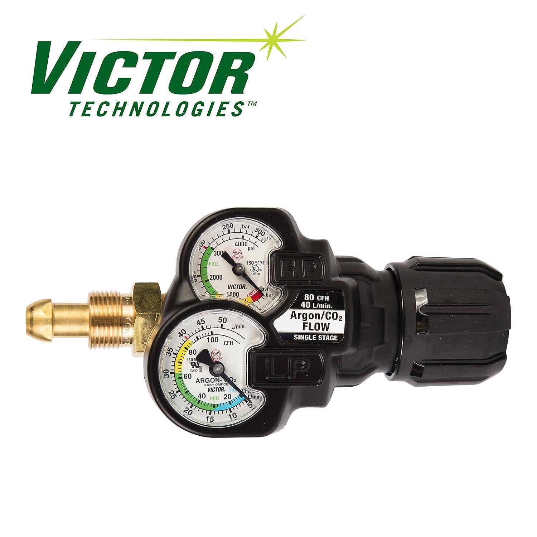 Victor Inert Gas Argon Regulator EDGE 2.0 Flow Gauge, ESS32-80CFH-580, 0781-3641 ESAB