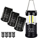 Gold Armour Brightest Camping Lantern (EMITS 350 LUMENS!) 4 Pack LED Lantern - Camping Equipment Gear Lights for Hiking, Emergencies, Hurricanes, Outages, Great Gift Set