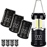Amazon Price History for:Brightest Camping Lantern - LED Lantern (EMITS 350 LUMENS!) - Camping Equipment Gear Lights for Hiking, Emergencies, Hurricanes, Outages, Storms (Black, 4 Pack)