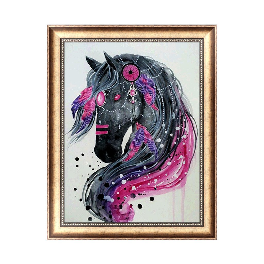 yournameI Horse 5D Diamond Embroidery Painting Rhinestone Cross Stitch Decoration Craft
