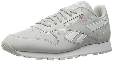 444fbc90b74 Reebok Mens Classic Leather Pop Grey Size  13 UK  Amazon.co.uk ...