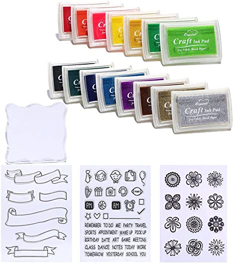 2Stamp DIY Craft Ink Pad Stationery for Paper Wood Fabric Light Scrapbooking