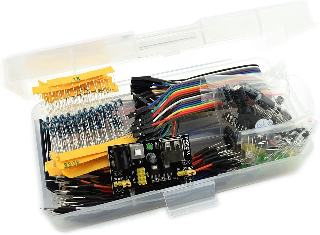 Rotating Potentiometer STM32 etc Raspberry Pi 40 Pin Header Strip for Arduino LED E0 Pack of 249pcs HJ Garden Electronic Component Assorted Kit Resistor Touch Switch Projects