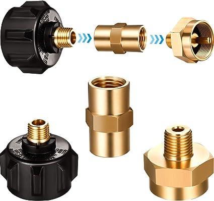 "1LB Brass Propane Gas Bottle Refill Adapter Connector 1//4/"" NPT Female Thread"