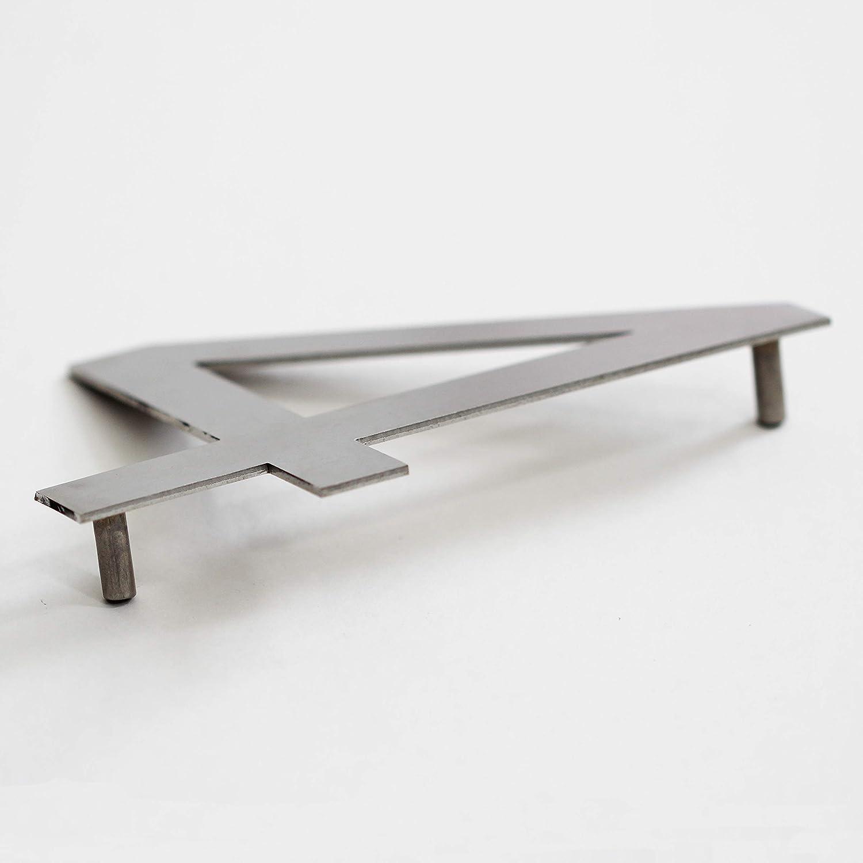 Numero civico in acciaio inox da avvitare numero civico design altezza 15,5 cm