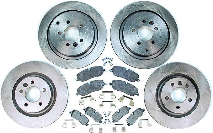 For Land Rover Range Rover 03-05 Front Brake Kit Pads+Rotors Semi Metallic