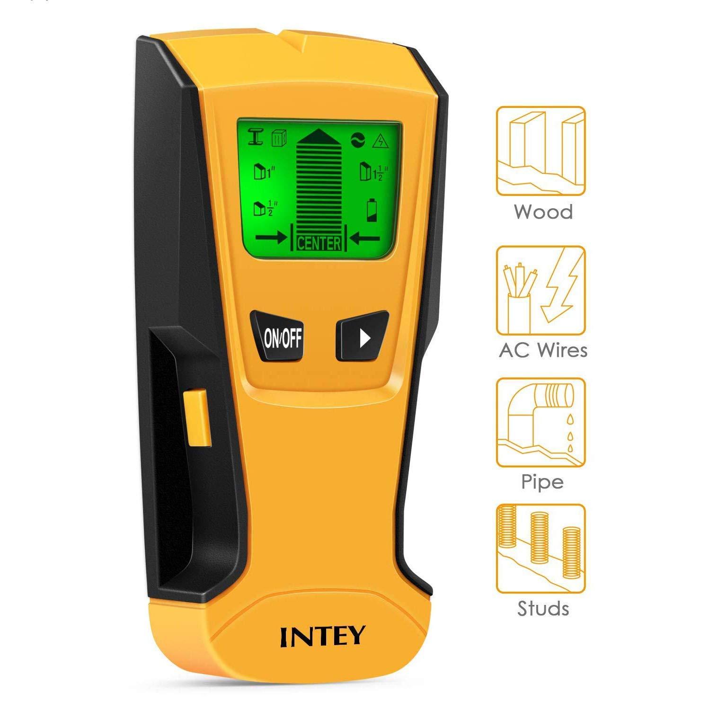 INTEY - Detector De Pared 3 EN 1 Pantalla LCD Detector De Pared para Detecta AC Cable ,Metal Tuberías,Madera En La Pared DCemento,Azulejos: Amazon.es: ...