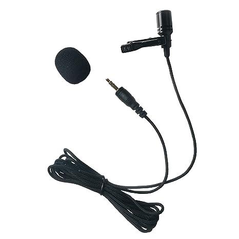 Samje Lavalier Micrófono de solapa Micrófono de condensador ...