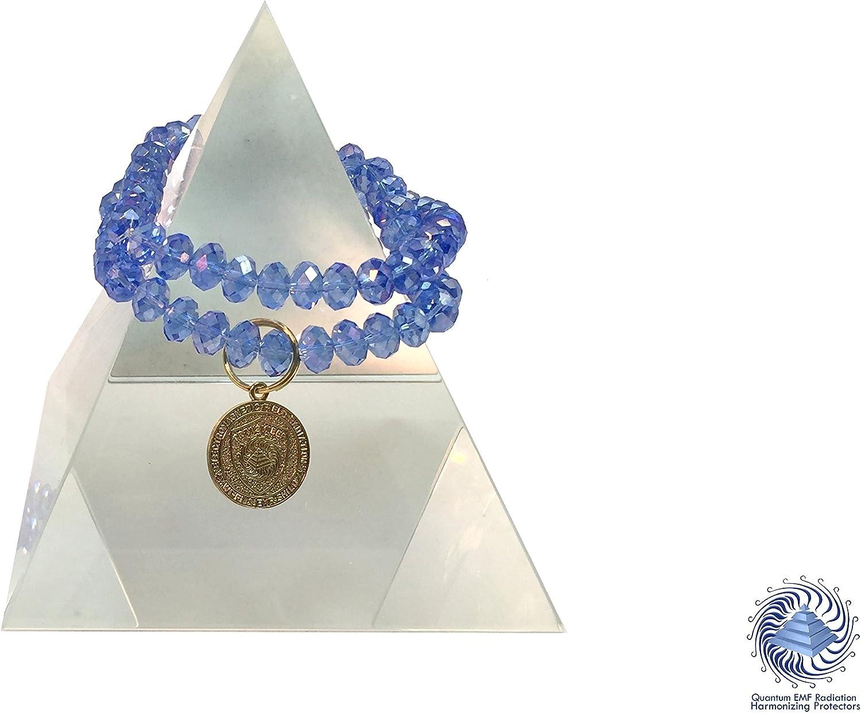 Vortex Bio Shield EMF Protection - Quantum EMF Jewelry - 2 Swarovski Crystal Double Duty Bracelets - 7 inch Each, 8mm Faceted Beads
