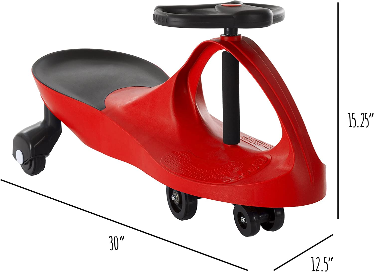 No Batteries 2 Years Old and Up Kids for Toddlers Ride On Car Wiggle Movement to Steer Zigzag Car-Green Gears or Pedals Uses Twist Turn