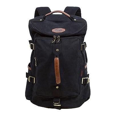 05dca26004 Owbb Homme Femmes Toile Vintage Sac de voyage Sac de Sport en sac à dos  loisir petite randonnée (Größe:40x27x20cm/0.8kg) +2 Deux don gratuit