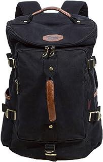 Owbb Homme Femmes Toile Vintage Sac de voyage Sac de Sport en sac à dos loisir petite randonnée (Größe:40x27x20cm/0.8kg) +2 Deux don gratuit