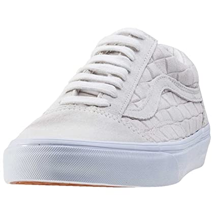 75c6836f3a50c6 Vans Mens White Suede Checkers Old Skool Trainers  Amazon.in  Sports ...