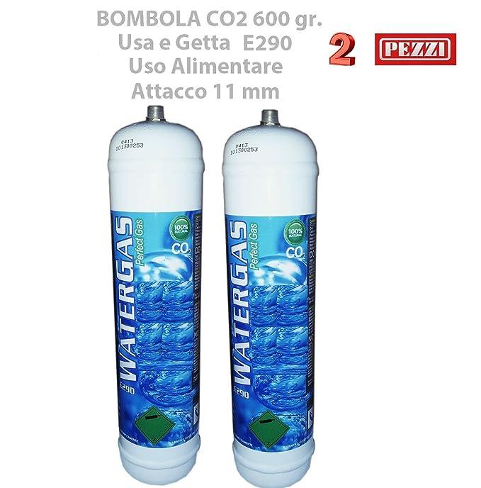 1 opinioni per Set 2 Pezzi BOMBOLE CO2 600 gr. E290 MONOUSO Gasatori Acqua e Refrigeratori
