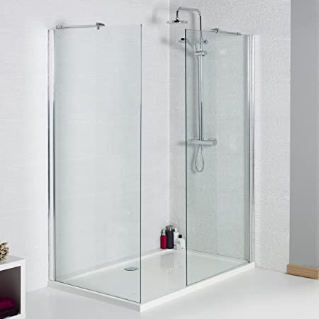900mm Wet Room Glass Walk In 8mm Shower Screen Panel 1400x900