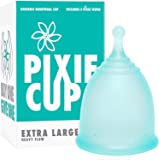 Pixie Menstrual Cup - Ranked 1 for Most Comfortable Menstrual Cup and Best Removal Stem - Every Cup Purchased One is Given to a Woman in Need! (X-Large)